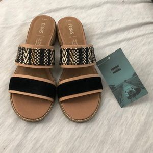 Geometric suede tom sandals
